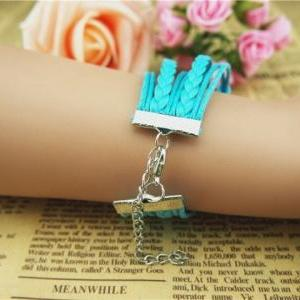 Handmade braid leather bracelet,Har..