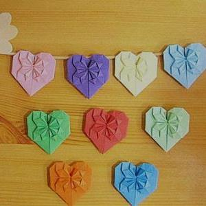 Colorful Heart Banner, set of 50pcs..